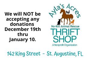 Thrift Store Donations Updates